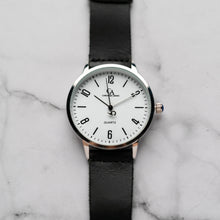 Muat gambar ke penampil Galeri, New Christyan Arden KARAN CA3204 - Around The World Edition - White Dial - Black Full Grain Strap (Pria)