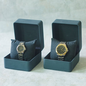 Jean Alexis Luxury Watch LKT JA006 Black Dial (Wanita) Gold Hands