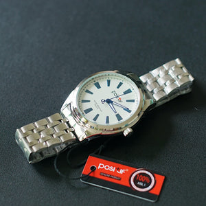 Positif Classic Watch PS4114 White Dial (Pria)