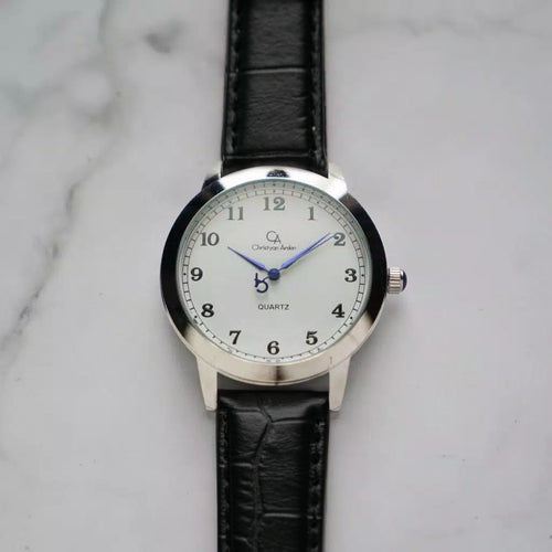 Christyan Arden OWEN CA3213 - Around The World Edition - White Dial - Black Full Grain Strap (Pria)