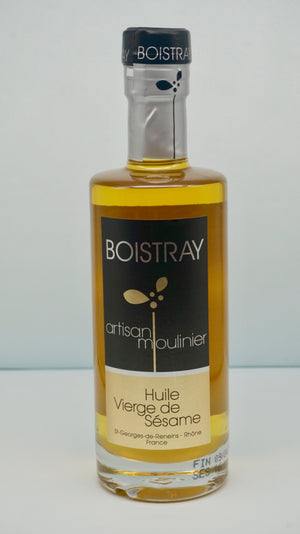 Virgin Sesame Oil - Huile Vierge de Sesame Boistray, 25cl - At.Flo