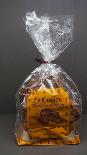 Orange & Almonds Biscuits - Sachet Crakou Orange & Amandes - At.Flo