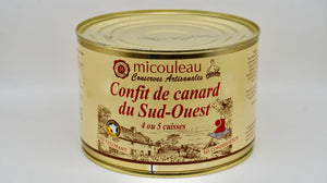 Duck Confit 4/5 Thighs Can - Confit de Canard du Sud-Ouest 4/5 Cuisses - 1580G - At.Flo