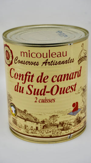 Duck Confit 2 Thighs Can - Confit de Canard du Sud-Ouest 2 Cuisses - 800G - At.Flo