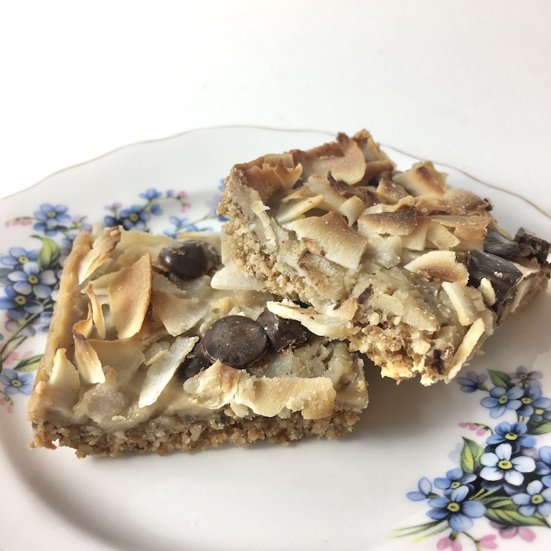 Coconut and caramel slice (allergy friendly - gluten, dairy, nut and egg free)