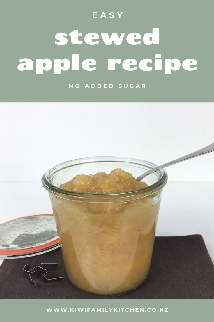 Easy Stewed Apple Recipe with no added sugar using Weck jars.