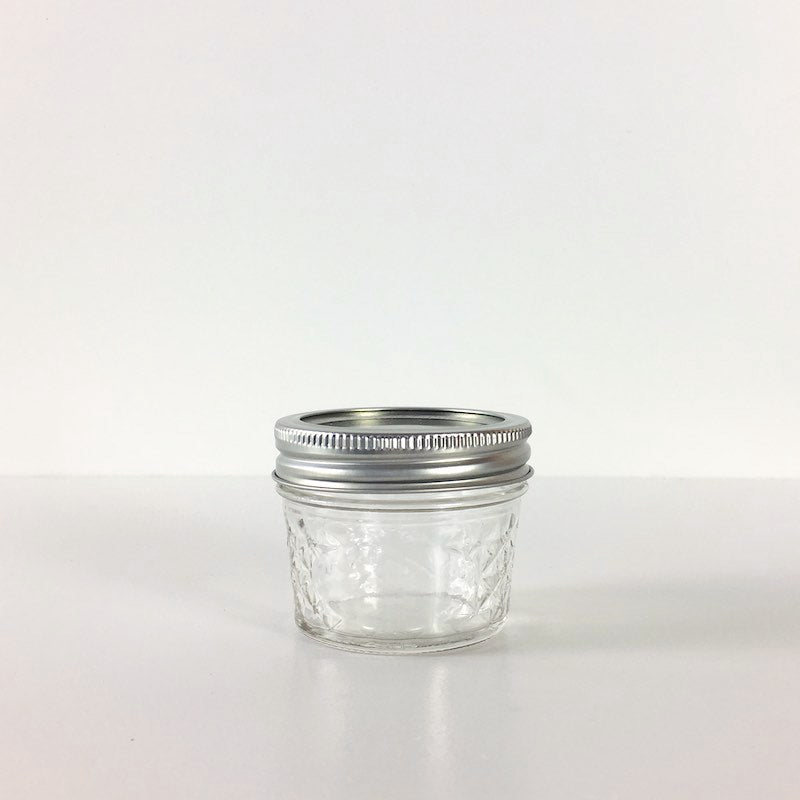 Ball 4oz Quilted Crystal Jelly Jars - Regular Mouth