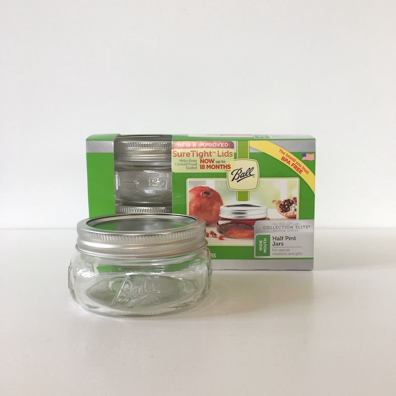 Ball Half Pint Mason Jars - Wide Mouth (4 pack) available in NZ