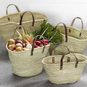 French Market Baskets with Flat Handles