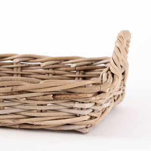 Grey rattan tray basket nz