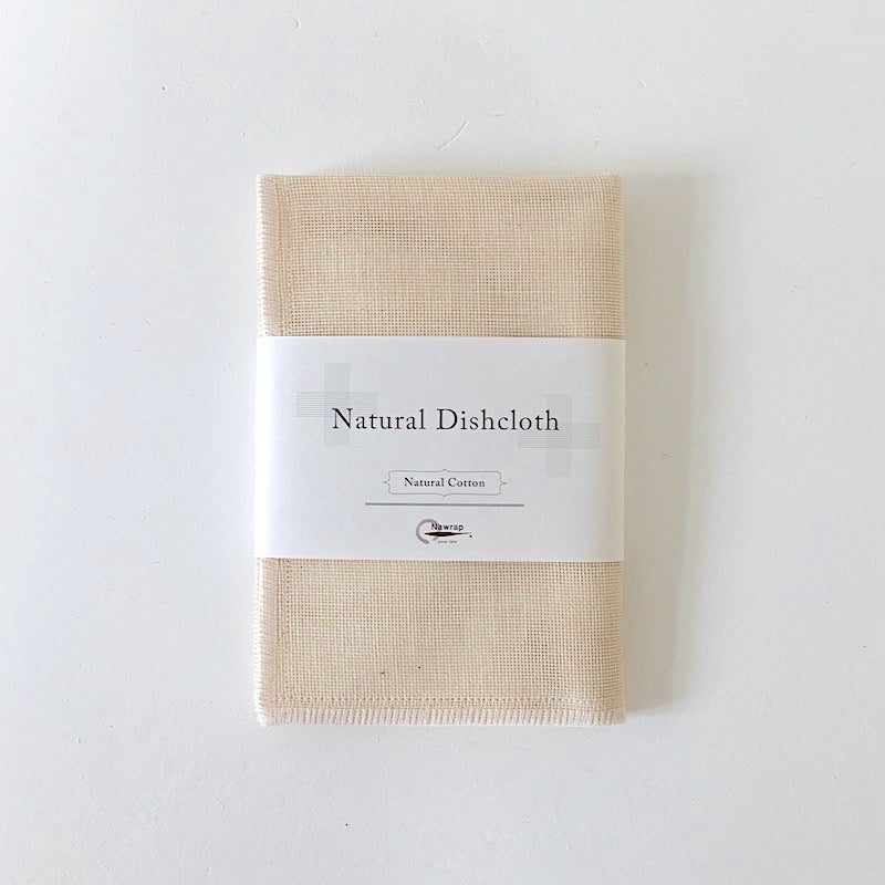 Natural Cotton Dishcloth by Nawrap