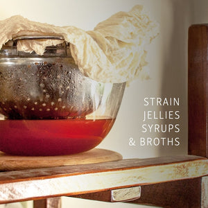 Organic cotton cheesecloth for straining jellies, syrups and broths