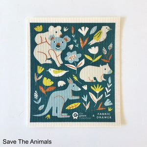 Save The Animals Spruce Cloth NZ