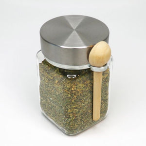 Spice jar with wooden spoon NZ