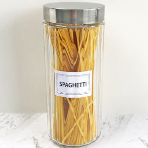 Tall Glass Canister - Spaghetti Storage Jar NZ