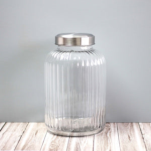 Large sized vintage style glass canisters for pantry storage NZ