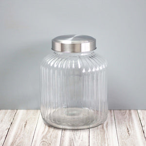 Medium sized vintage style glass canisters for pantry storage NZ