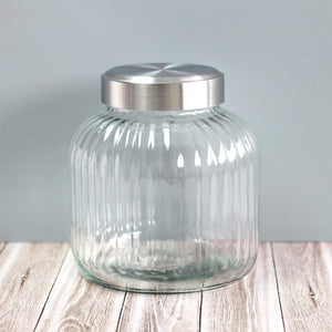 Small sized vintage style glass canisters for pantry storage NZ