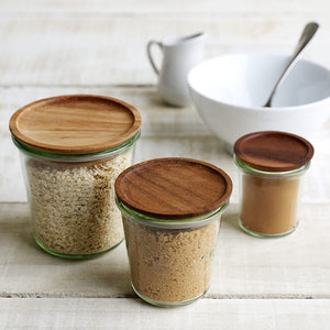 Weck wooden lids transfer Weck jars into stylish storage containers