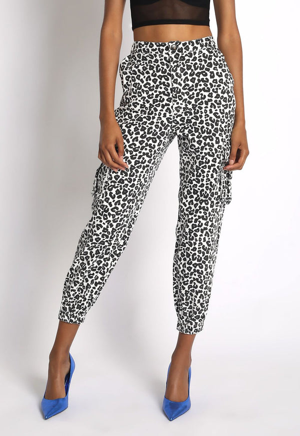 Leopard Print Joggers - WORLD OF MONOKROME