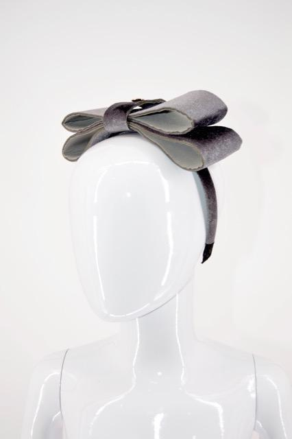 Fairy Wing Headband Grey - WORLD OF MONOKROME