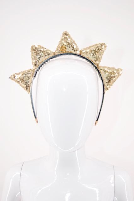 Diva Crown Headband Gold
