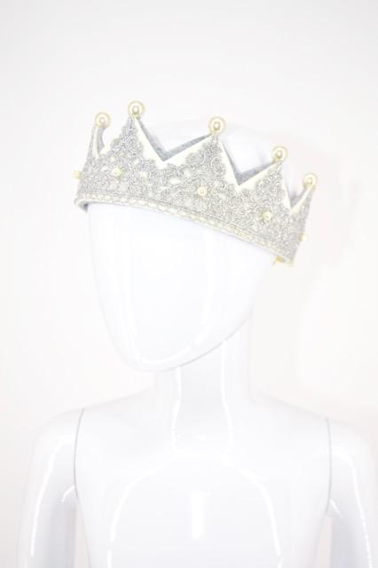 Pearl Lace Crown Silver - WORLD OF MONOKROME