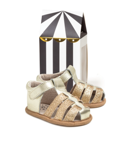 Gold Rio Sandal - WORLD OF MONOKROME
