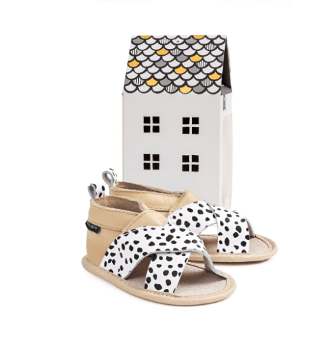 Wild Spots Cross Over Sandal - WORLD OF MONOKROME