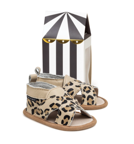 Leopard Cross Over Sandal - WORLD OF MONOKROME