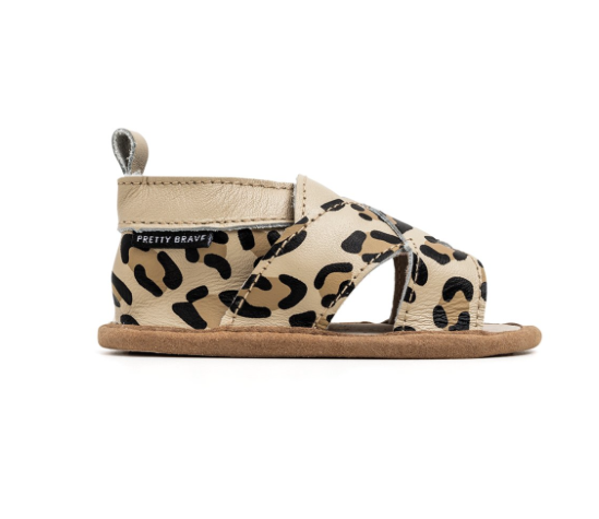 Leopard Cross Over Sandal