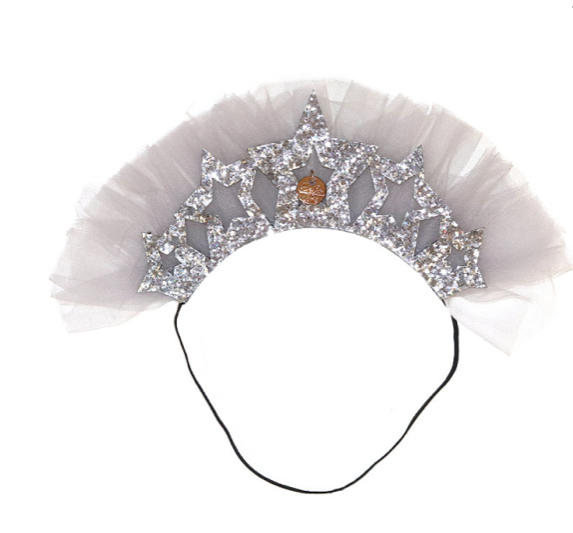 Princess Headband Silver - WORLD OF MONOKROME