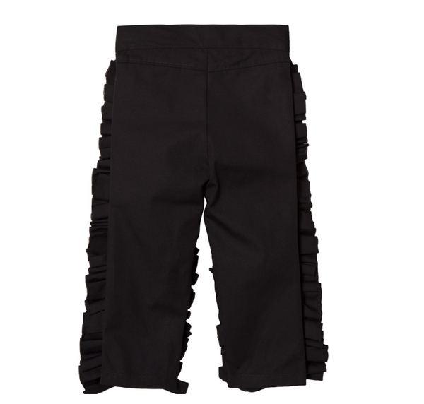 """LIFE IS NOT A FAIRYTALE"" Ruched Front Pants - WORLD OF MONOKROME"
