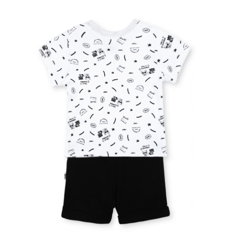 Lagerwolf Everywhere Tee & Shorts Set - WORLD OF MONOKROME