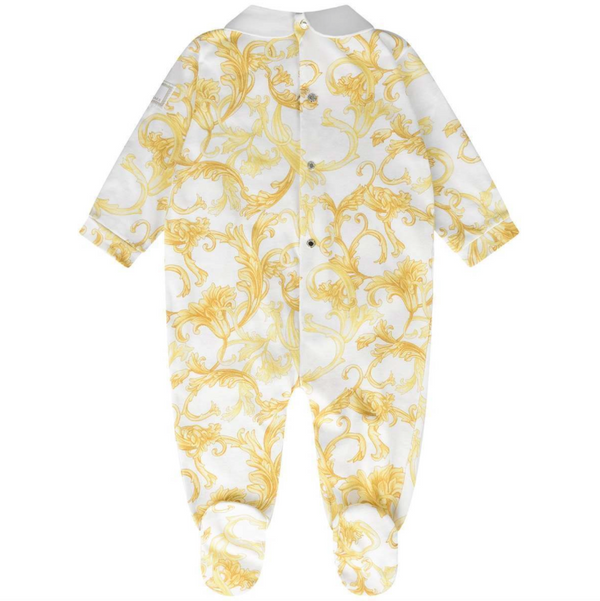 Baroque Footed Onesie - WORLD OF MONOKROME