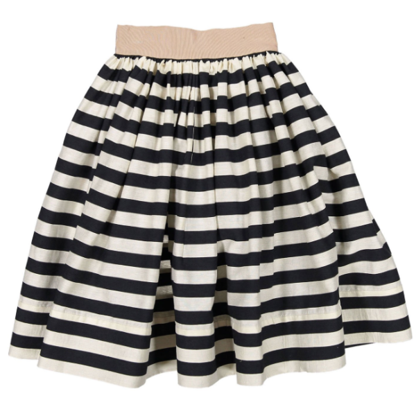Milk Stripes Yug Skirt - WORLD OF MONOKROME