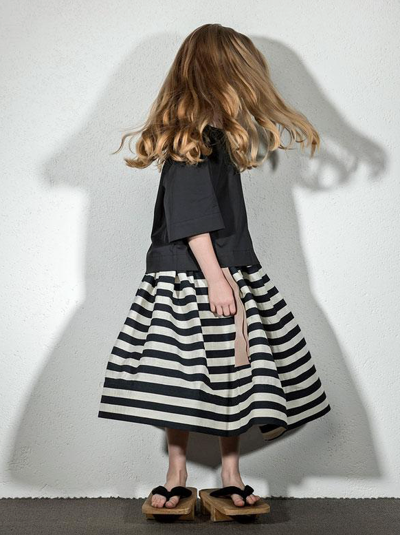 Milk Stripes Yug Skirt