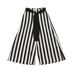 Striped Milky Culottes - WORLD OF MONOKROME