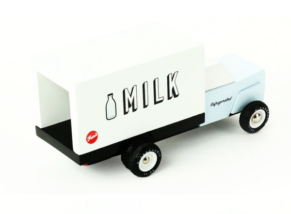 Milk Truck Wooden Toy (LIMITED EDITION) - WORLD OF MONOKROME