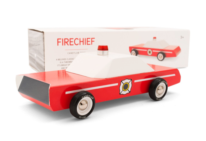 Fire Chief Wooden Toy - WORLD OF MONOKROME