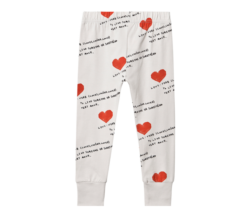 I Heart You Slim Cuff Pant - WORLD OF MONOKROME