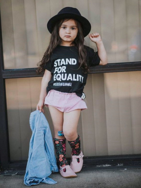 "Kids for Change ""EQUALITY"" Tee - WORLD OF MONOKROME"