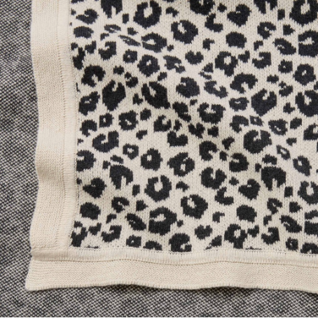 Leopard Knit Blanket - WORLD OF MONOKROME