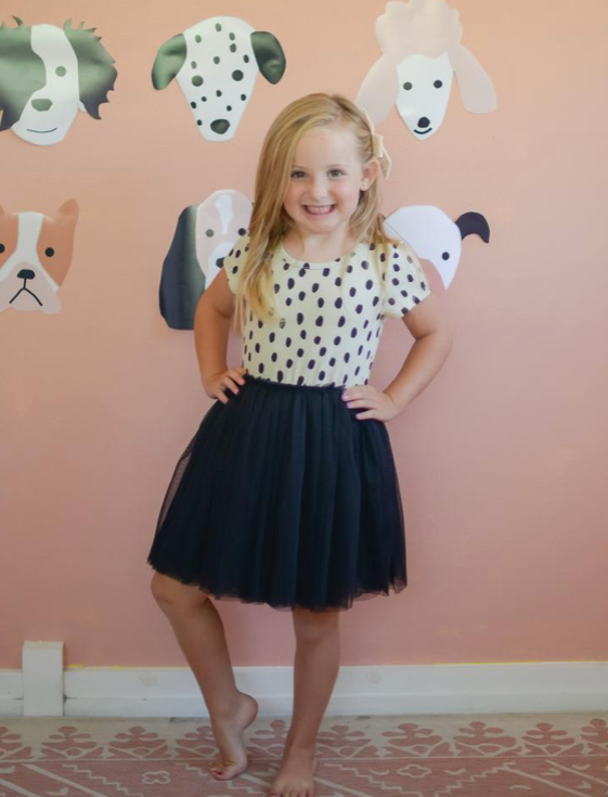 Messy Dots Tutu Dress - WORLD OF MONOKROME