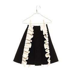 Suzanne Ruffle Skirt - WORLD OF MONOKROME