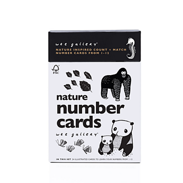 Nature Number Cards - WORLD OF MONOKROME