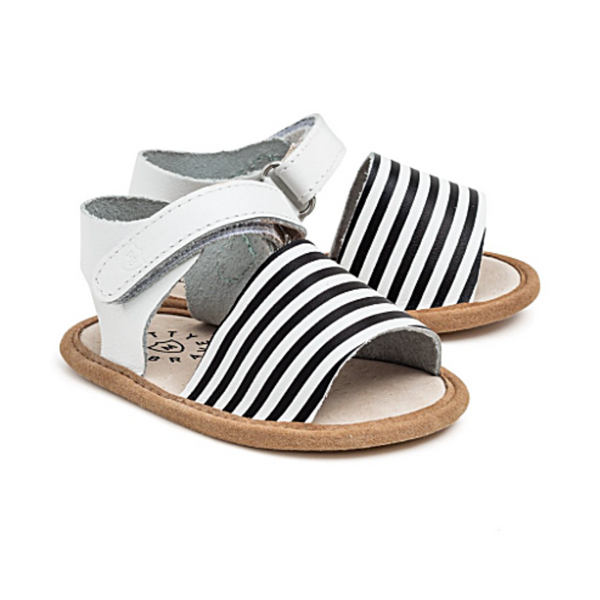 Stripe Blake Sandal - WORLD OF MONOKROME