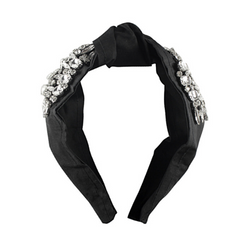 Charmed Top Knot Headband Black - WORLD OF MONOKROME