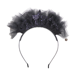 Princess Headband Black - WORLD OF MONOKROME