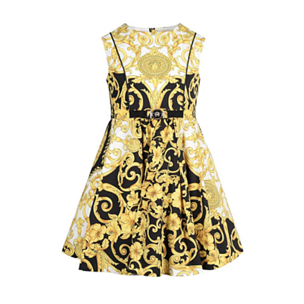 Barocco Print Dress (Mini Me Style) - WORLD OF MONOKROME